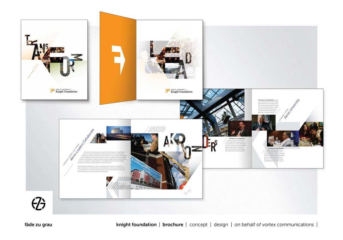 graphic design annul report for knight foundation