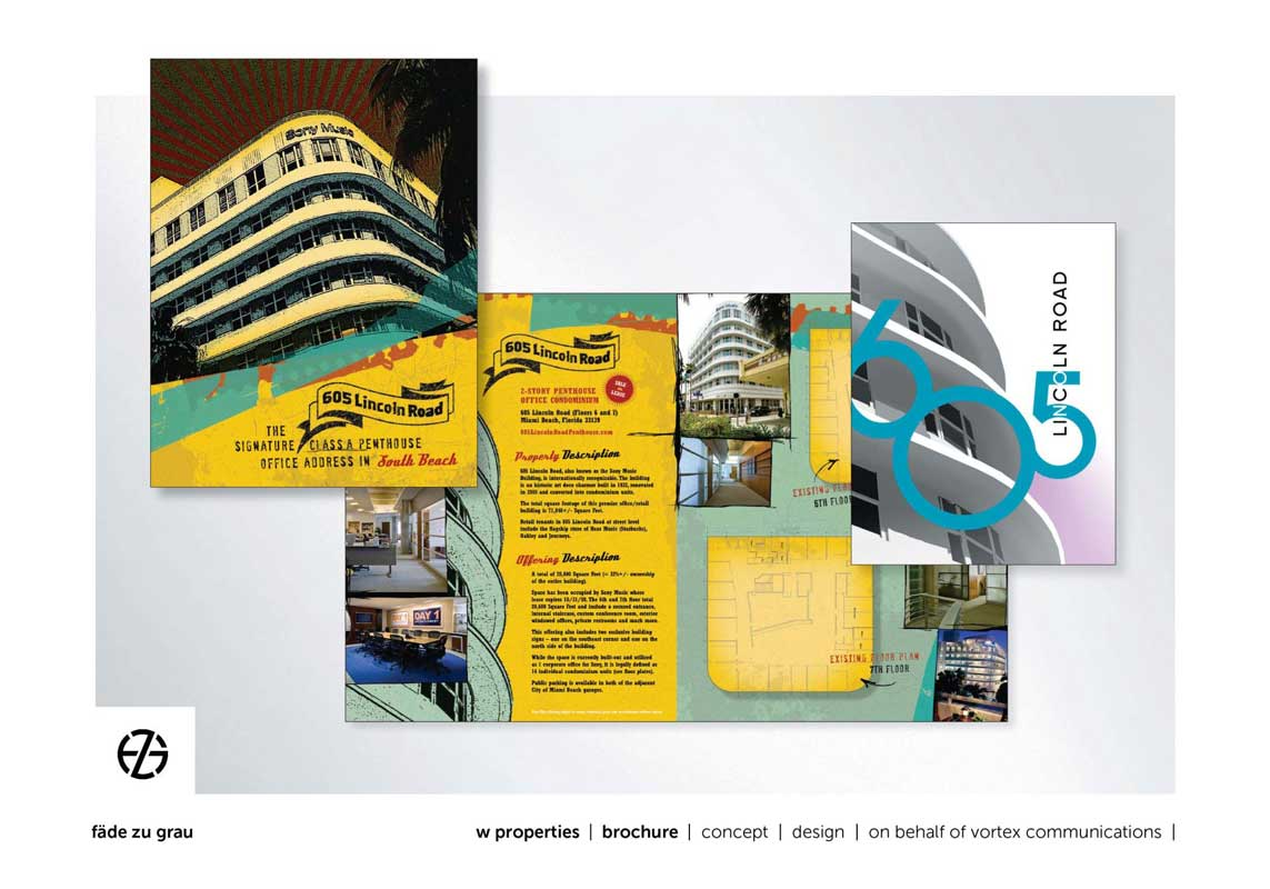 graphic design brochures for miami beach 605 lincoln road