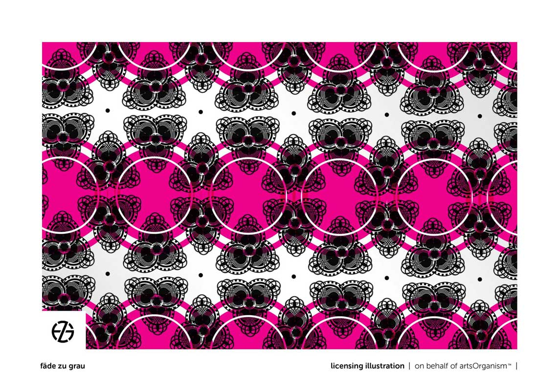 graphic design fluorescent shapes in repeat