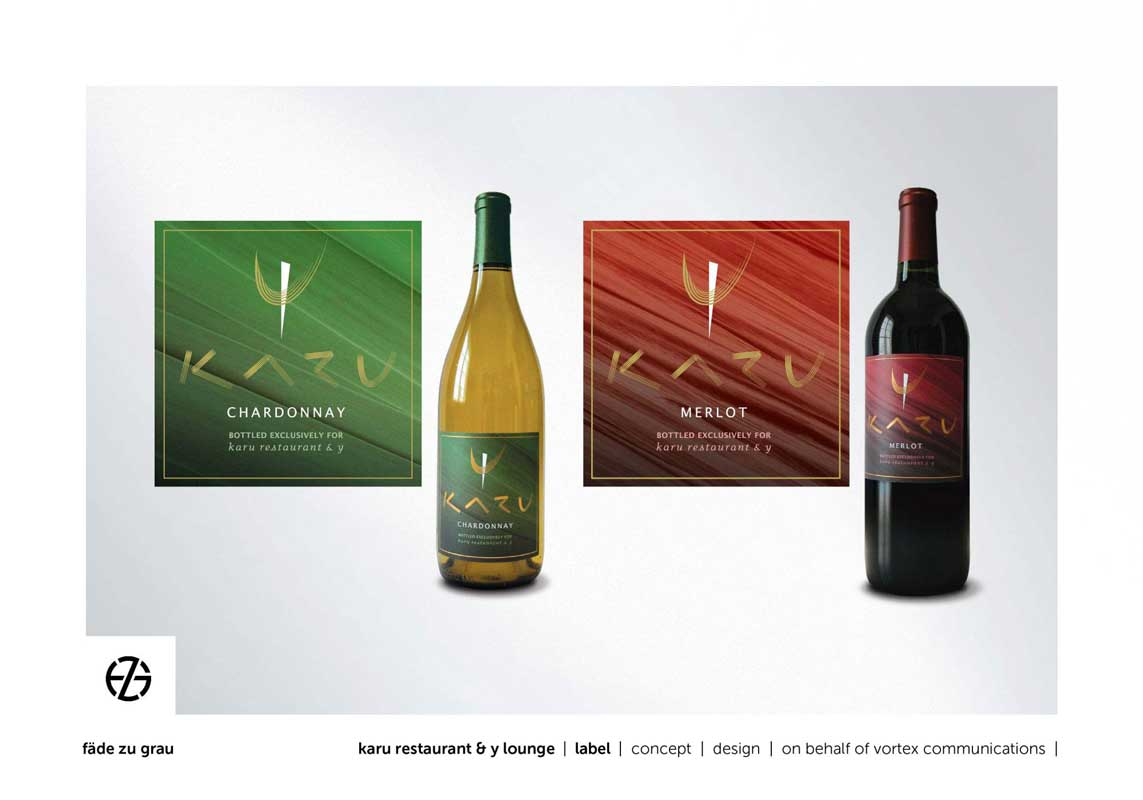 graphic design labels for red and white wine bottles