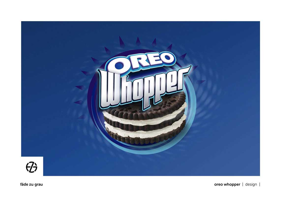graphic design oreo whopper