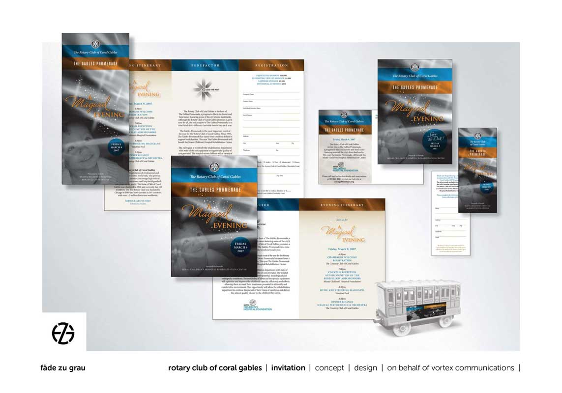 graphic design brochure and invitation package