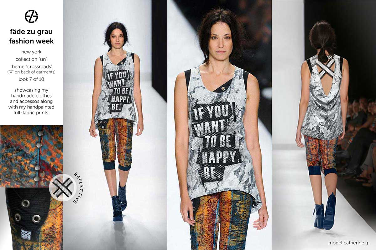 fade zu grau runway collection at new york fashion week, look 7