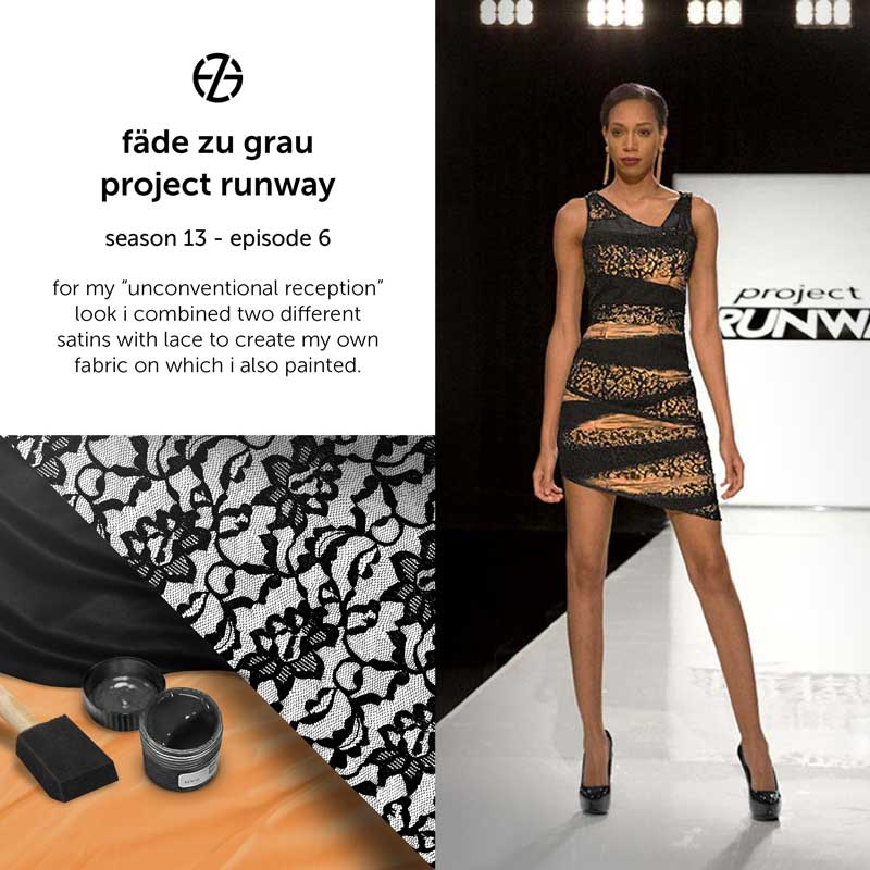 fade zu grau's look at project runway season 13, episode 6