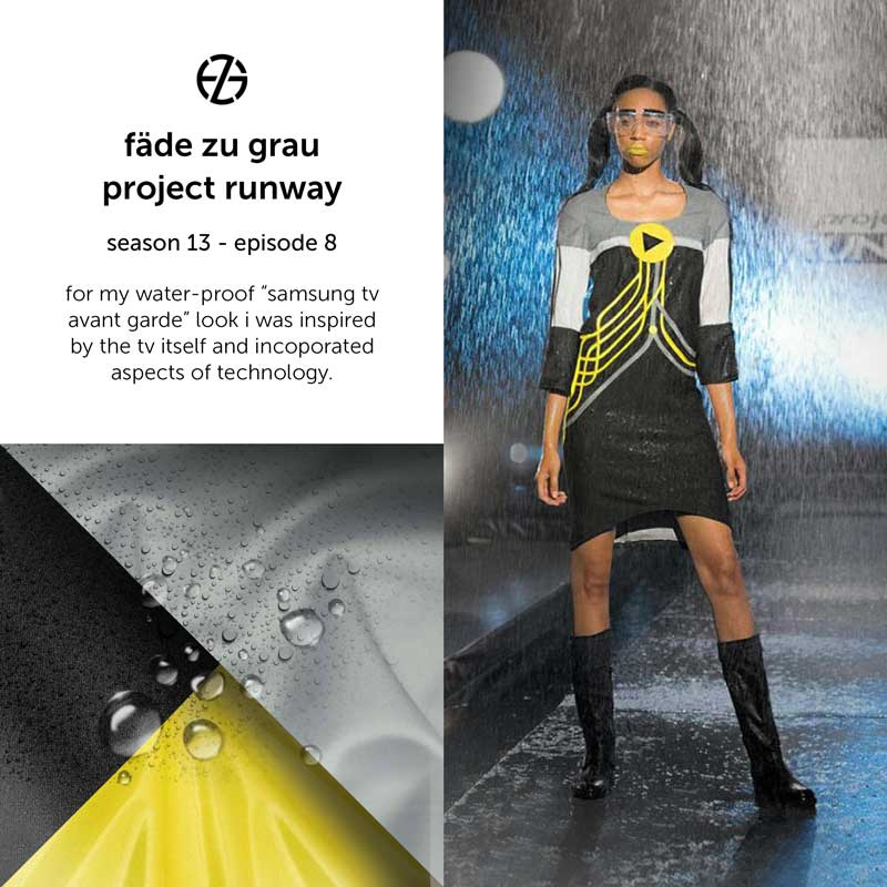 fade zu grau's look at project runway season 13, episode 8